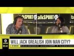 WILL JACK GREALISH JOIN MAN CITY? Tony Cascarino thinks City will sign Jack Grealish AND Harry Kane!
