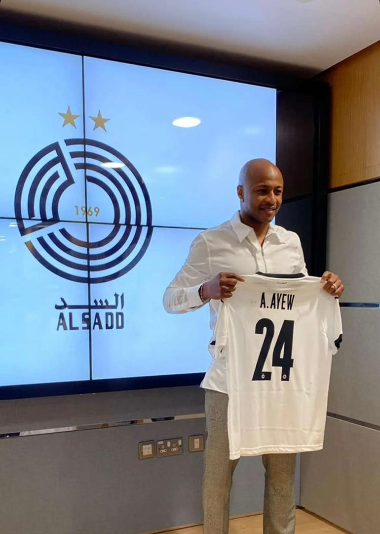 Ghana captain Andre Ayew to wear No. 24 jersey at new club Al Sadd SC