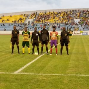 GPL HIGHLIGHTS: Late Kwadwo Obeng Jnr strike earns draw for Hearts against Dwarfs