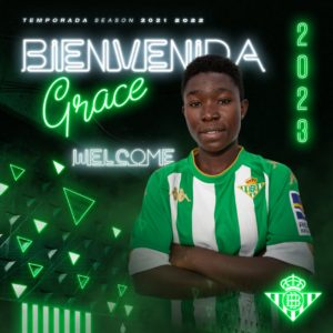 OFFICIAL: Spanish side Real Betis Féminas announce signing of Ghana's Grace Asantewaa