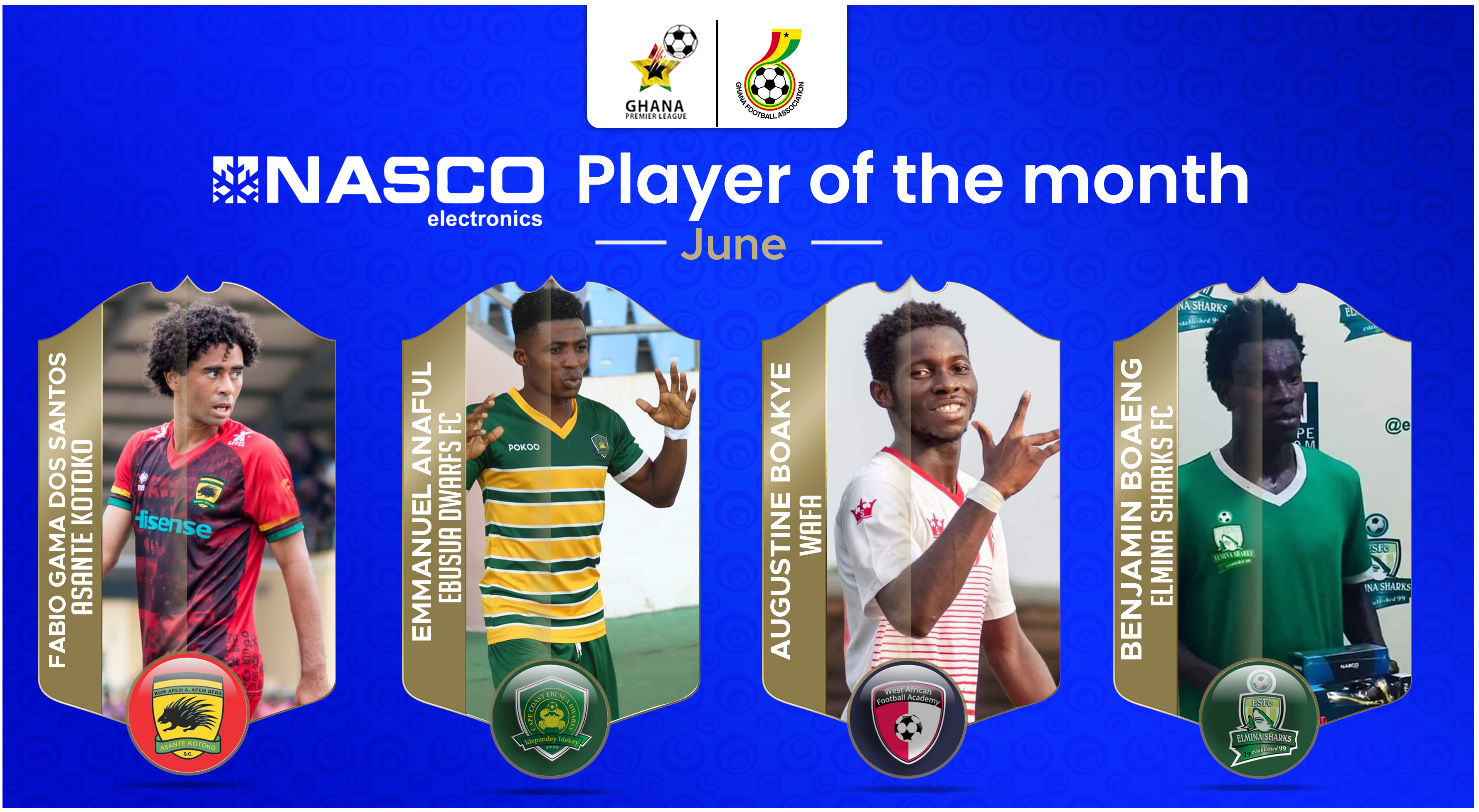 GPL: GFA shortlists WAFA star Augustine Boakye, three others for NASCO player of the month award