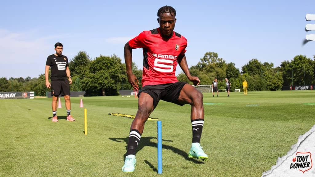 Ghanaian forward Kamaladeen Sulemana holds individual training at Stade Rennais