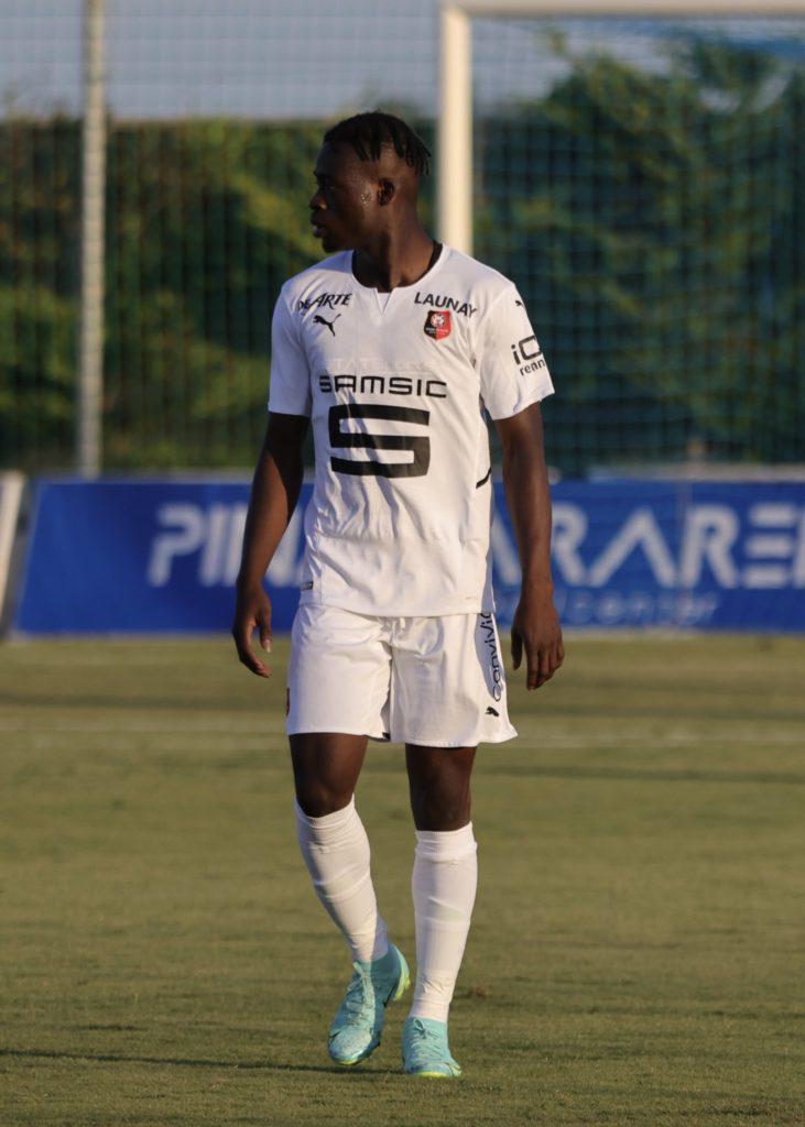 Kamaldeen Sulemana makes his Stade Rennais debut in a loss to Getafe