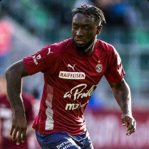 Ghanaian forward Grejohn Kyei on target for Servette FC in 2-0 win against Molde