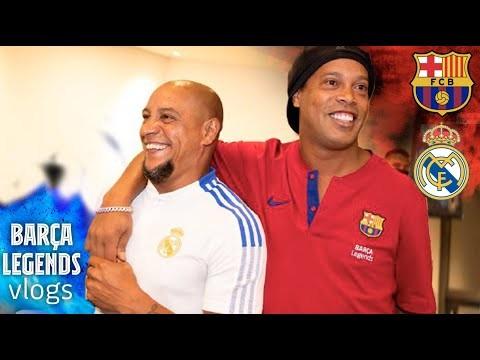 INSIDE THE LEGENDS CLÁSICO with RONALDINHO, CASILLAS, SAVIOLA... | FC Barcelona VLOG