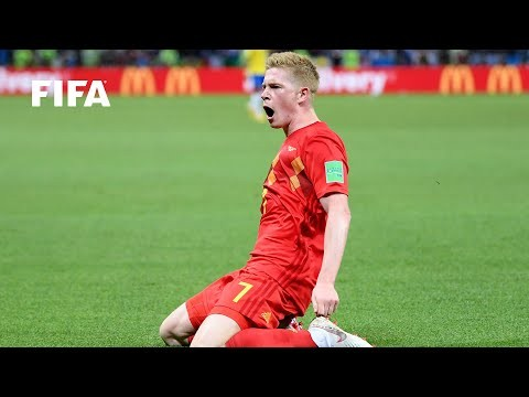 Kevin De Bruyne goal vs Brazil   ALL THE ANGLES   2018 FIFA World Cup