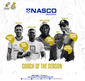 Samuel Boadu, four others nominated for NASCO Coach of the Season award