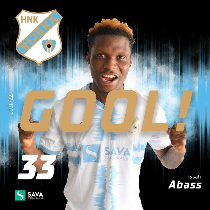 Ghanaian youngster Issah Abass nets brace for Rijeka in thrilling draw at Dinamo Zagreb