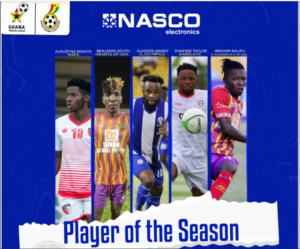 Augustine Boakye, Diawisie Taylor and three Hearts of Oak nominated for GPL player of the season award