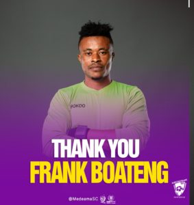 JUST IN: Medeama sack goalkeeper Frank Boateng days after howler in MTN FA Cup