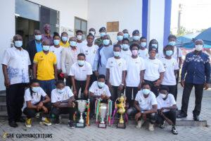 Hasaacas Ladies present Champions trophy to GFA