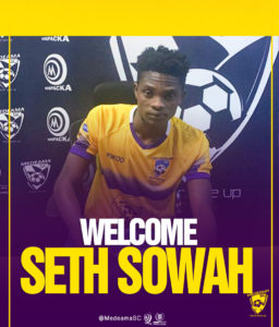 Medeama complete signing of Seth Sowah on three-year deal