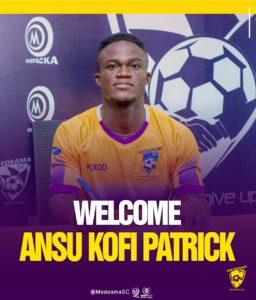 Medeama announce Kofi Ansu Patrick signing from  Berekum Arsenal on a three year-deal