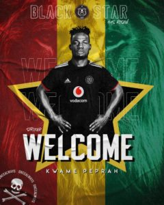 South African side Orlando Pirates confirm Kwame Peprah signing
