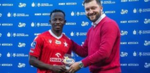 Ghana midfielder Yaw Yeboah scoops Polish League Goal of the Month award