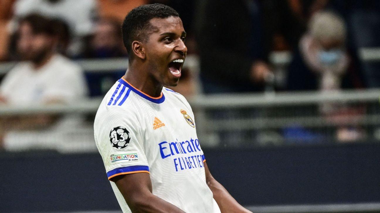 Real Madrid's Rodrygo strikes late to beat Inter Milan
