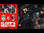 Klopp's Reaction: The boss on victory, squad rotation & Divock Origi   Liverpool vs AC Milan