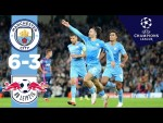 Man City Highlights!   Man City 6-3 RB Leipzig   Ake, Mahrez, Grealish, Cancelo, Jesus Goals!