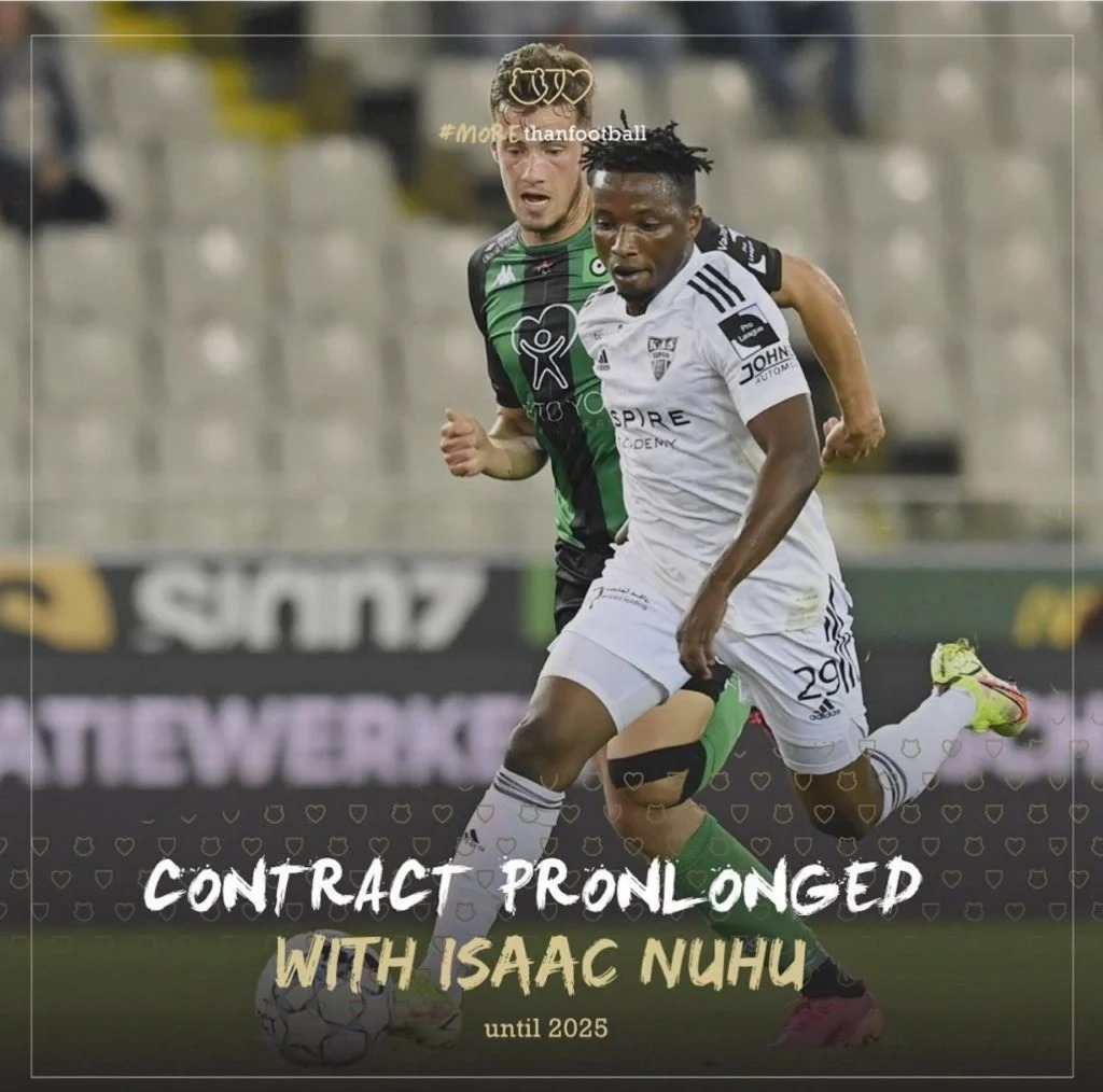 KAS Eupen director elated after successfully extending contract of Ghanaian attacker Isaac Nuhu
