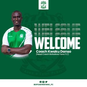 DOL side Bofoakwa Tano announce appointment of coach Kwaku Danso as new head coach