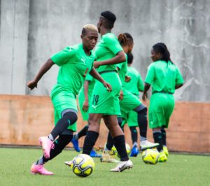 WATCH Black Queens' first training session in Nigeria ahead of Aisha Buhari Cup