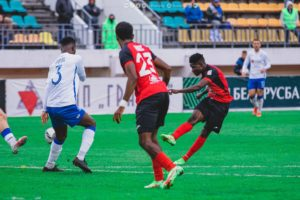 Ghanaian forward Francis Narh delighted to score brace for Slavia Mozyr against Dinamo Brest