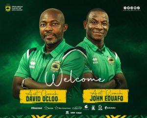 Kotoko appoint coach David Ocloo and John Eduafo to deputize head coach Prosper Narteh