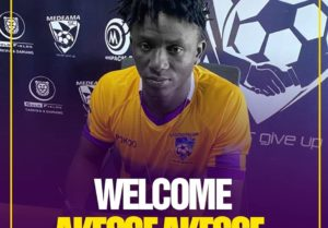 """""""I can't wait to wear the shirt and give more than 100%"""" - New Medeama signing Akesse"""