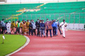Sports Minister Mustapha Ussif inspects renovated Baba Yara Sports Stadium