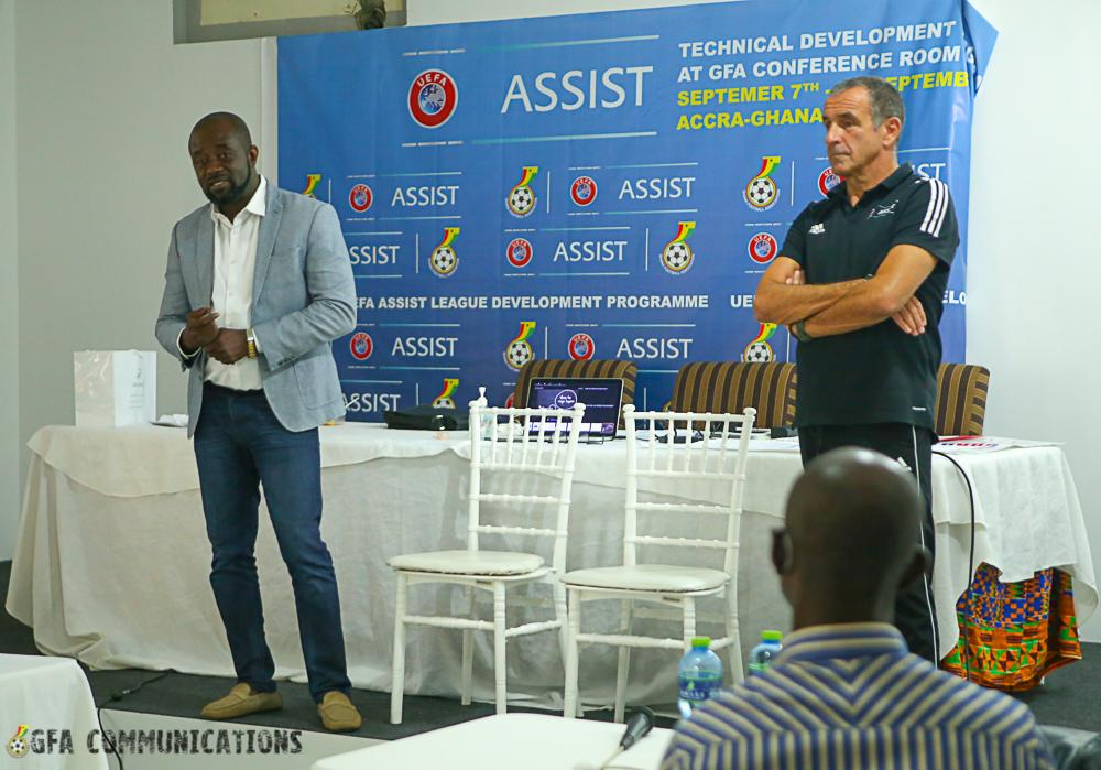 GFA and UEFA Assist end three day capacity building programmes for Premier League coaches