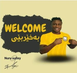 Iraqi topflight side Erbil Sports Club announce signing of Nuru Sulley but Hearts of Oak claim no agreement yet