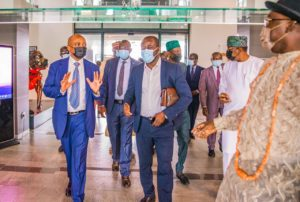 GFA boss Kurt Okraku arrives in Nigeria for Aisha Buhari tournament