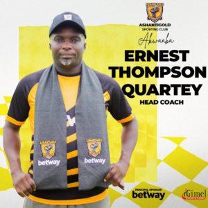 Confirmed: Ernest Thompson named AshantiGold SC head coach