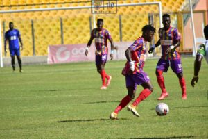 Hearts of Oak fans react to the team's 2-0 victory against CI Kamsar