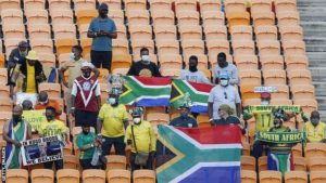 South Africa fans celebrate return to stadium after restrictions lifted