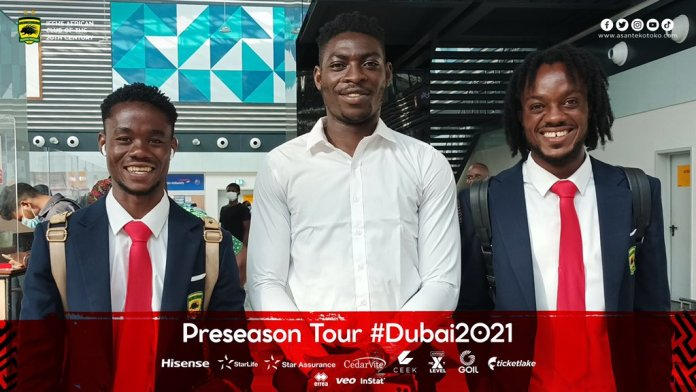 Razak Abalora and others team up with Kotoko teammates in Dubai for pre-season