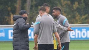 VIDEO: KP Boateng involved in altercation with Hertha Berlina coach during training