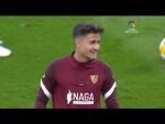 Calentamiento RCD Mallorca vs Sevilla FC