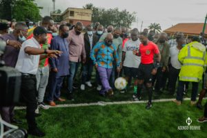 Akufo-Addo commissions new astro turf at Bantama
