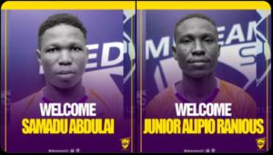 Medeama announce signing Samadu Abdulai and Junior Alipio Ranious from Wa Suntaa