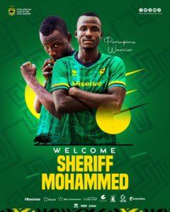 Midfielder Sheriff Mohammed joins Asante Kotoko on a four year deal