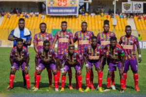 Hearts of Oak coach Coach Samuel Boadu names strong starting eleven to face Wydad today