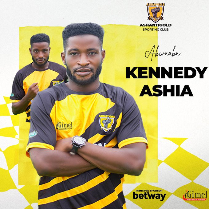 Ashanti Gold complete signing of Kennedy Ashia on two-year deal