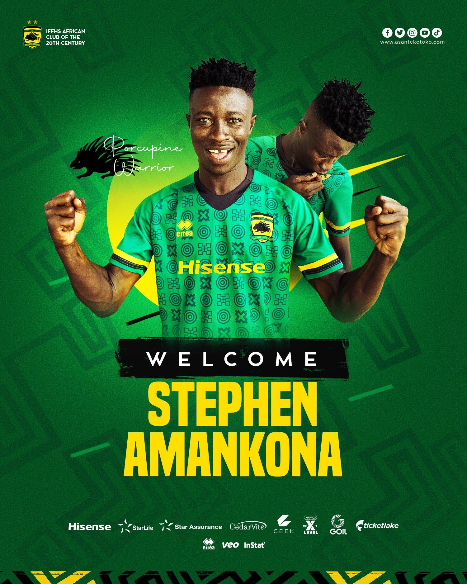 Kotoko unveil new signing Stephen Amankona