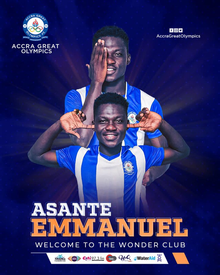 Great Olympics sign Emmanuel Asante from MSK Zilina Africa FC