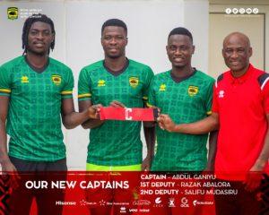 Asante Kotoko confirm three new captains for 2021/2022 season