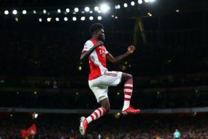 VIDEO: Watch Thomas Partey's clever header goal for Arsenal in 3-1 win against Aston Villa