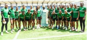 First Lady of Lagos State Sanwo-Olu charges Super Falcons to beat Black Queens in Accra