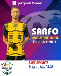 Talented youngster Augustine Sarfo joins Division One side B.A United
