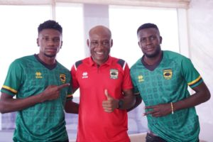 New Asante Kotoko recruits George Mfegue Omgba and Mbella Etouga join teammates in Dubai